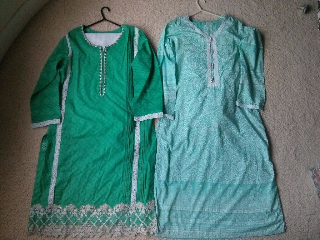 *2 Shalwar Kameez 3 Piece Suits Eid Mendhi
