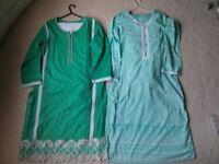 *2 Shalwar Kameez 3 Piece Suits Eid Mendhi NEW Indian Pakistani Wedding**