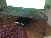 LARGE TV STAND TABLE - GLASS