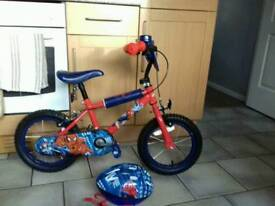 14inch spider man bike