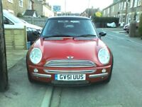 MINI COOPER 1.6 3dr Hatch '51. Genuine 64k!