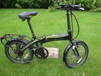 Carrera Crosscity E electric folding bicycle