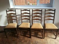 Dining chairs (set of four) ERCOL