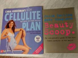 Carol Vordermans Cellulite Plan Book & Julia Carlings Beauty Scoop Book