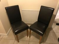 Leather chairs. Pair
