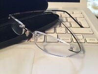 Rimless flexible glasses X 1.50 magnification optical frame