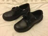 Men's black steel toe cap shoes size 8 brand new in box.