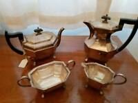 Silver plated tea and coffee set.