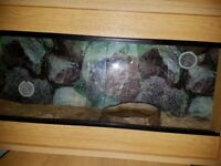 4ft custom made Corner vivarium