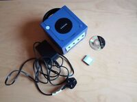 Used Nintendo Gamecube Console with memory card, game and power cable