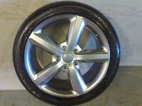 ALLOYS X 4 OF 20 INCH GENUINE AUDI Q7 4X4 5 SPOKE S/LINE FULLY POWDERCOATED IN STUNNING SHADOWCHROME