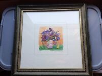 Two Shabby Chic Floral Framed Prints by Dawna Barton