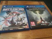 PS4 Dragon Age INQUISISION and battleborn