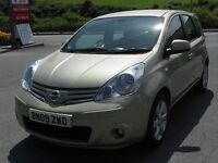 NISSAN NOTE 1.6 TEKNA AUTO, 2009, GOLD, ONLY 34'000 MILES, FSH, LEATHER, SAT NAV, BLUETOOTH, SUPERB