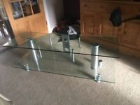 Excellent condition glass tv stand L60 W20 H18