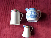 """Three Jugs- Spode Blue Room Collection and 2 Booths """"Orchard"""" Design and Masons Cheese Dish"""