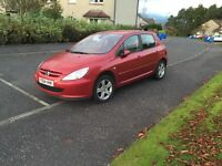 STUNNING PEUGEOT 307 AUTO ONLY 32000 MILES MOTED UNTIL JUNE 2017 £1195