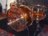Ludwig Amber Vistalite John Bonham Led Zeppelin Zep Acrylic Drum Kit