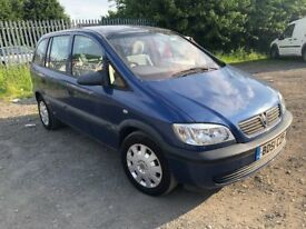 51 Plate Vauxhall Zafira automatic with very low mileage