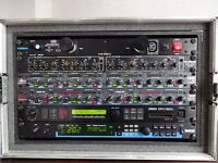 """6U Rack """"touring grade"""" Flightcase on wheels w/ FREE supply of cage nuts, bolts and washers."""