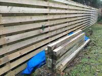 FENCE POSTS. 4'x4' - 8ft length