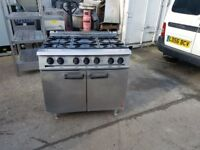 Falcon 6 six burner LPG cooker commercial cooker propane gas comes with warranty