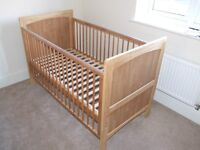 John Lewis Alfie cot bed and mattress