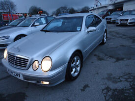 MERCEDES CLK 200 COUPE AUTOMATIC FULL BLACK LEATHER SEATS MOST SERVICE IS FROM INDEPENDENT MERCEDES