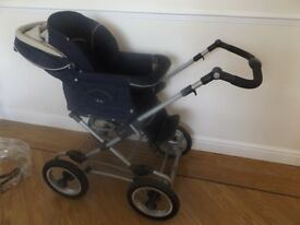 Silver Cross Sleepover Pram & Pushchair + Cot Stand