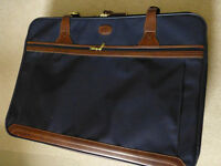 Navy blue pull along suitcase