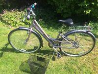 Raleigh Pioneer ladies/girls bike. Metallic Pink with basket