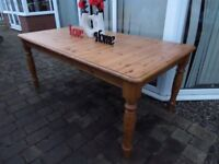Beautiful 6 Foot Farmhouse Pine Dining Table - Delivery