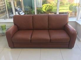 3 piece leather sofa VGC includes 2 recliners