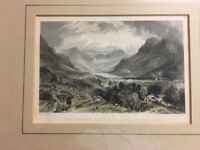 6 Antique Frame Prints of the Lake District - A beautiful collection