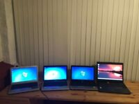 4 Laptops for sale - £250 for the lot