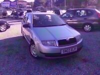 03 SKODA FABIA CLASSIC 1.2 PETROL IN SILVER *PX WELCOME* MOT TILL APRIL 2018 £495