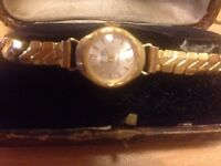 Globa gold plated LADIES WATCH in original box
