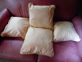 4 New Cushions 42cm square - Buttercream