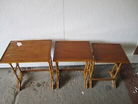 BEVAN FUNNEL REPRODUCTION NEST OF TABLES (Yew) I. D. No. 28/2/17