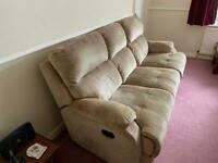 Sofa & matching electric recliner chair