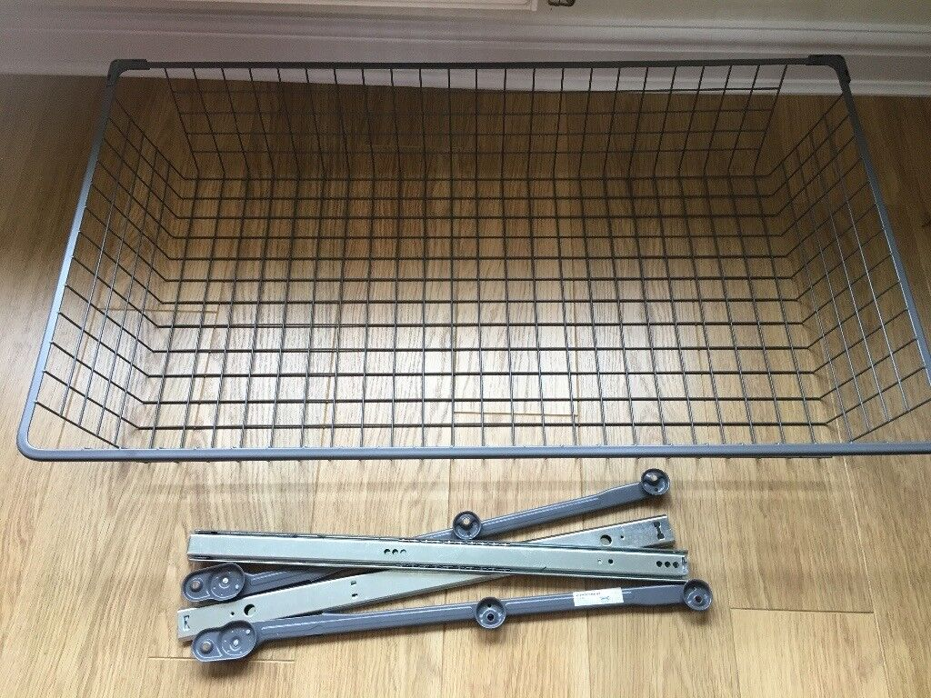 Ikea pax tie rack and Ikea pax large wire basket