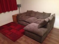 Jumbo Cord Sofa - Grey - Only 10 months old - Excellent Condition