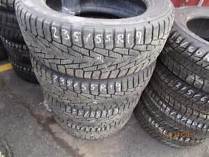 235/55R19 SET OF 4 USED NOKIAN WINTER TIRES