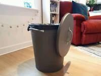 Rubbish / Trash / Recycle Bin / Storage / Grey / Vintage Style