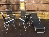Foldable 4 chairs with a recliner, bargain at only £65