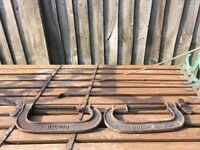 Pair Of Original Record No8 G Clamps- DELIVERY AVAILABLE