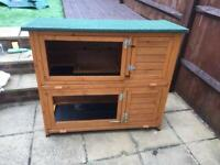 2 story rabbit hutch with rain cover