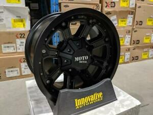 BLOWOUT! MOTO METAL SHIFT MO984 17X9 8X6.5 -12MM MATTE BLACK WITH GLOSS INSERTS