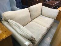 MARKS AND SPENSER BIEGE TWO SEATER SOFA