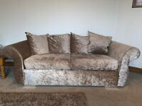 3 seater sofa + cuddle chair